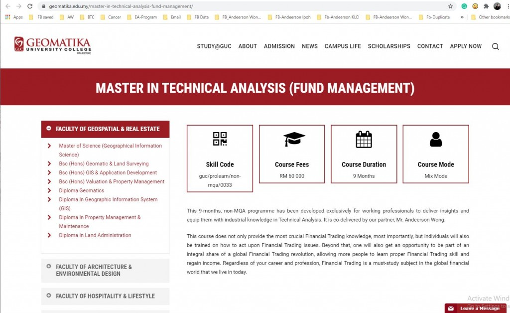 Executive-master-Technical-Analysis-Fund-Management